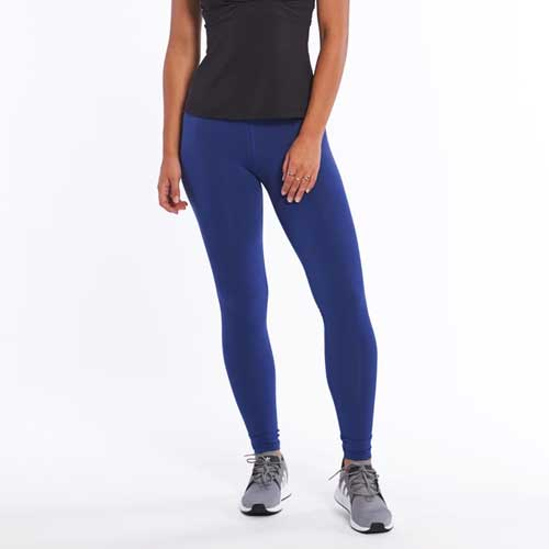 Womens blue seamless leggings
