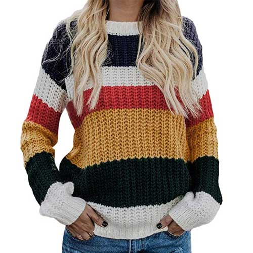 Womens colorful sweater