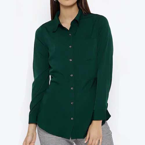 Womens emerald green shirt