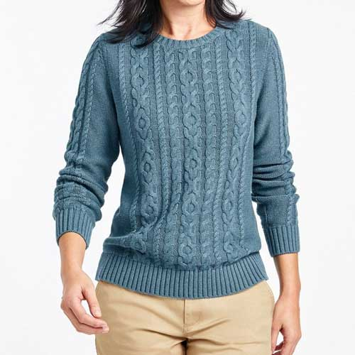 Womens faded blue sweater