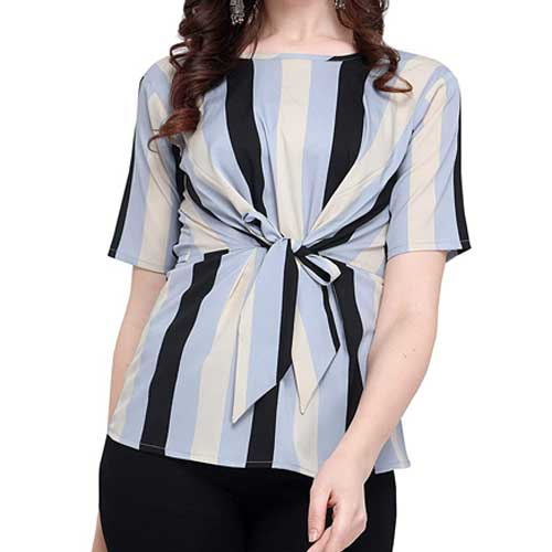 Womens front knot blouse