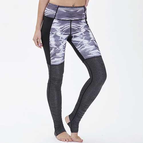Womens grey stirrup leggings
