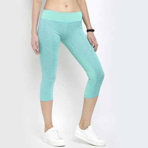 Womens mint blue capri leggings