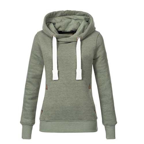 Womens mint grey hoodie
