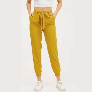 Wholesale Wholesale Women's Mustard Yellow Joggers Manufacturer