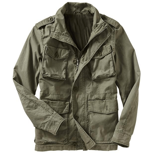 Womens olive utilitarian jacket