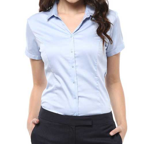 Womens pastel blue chic shirt