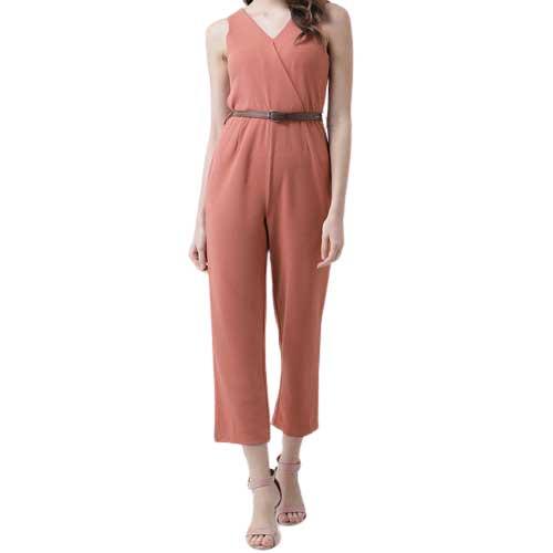 Womens peach jumpsuit