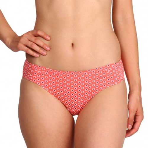 Womens peach printed underwear