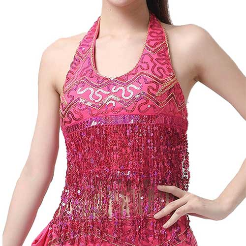 Womens pink blingy dance top
