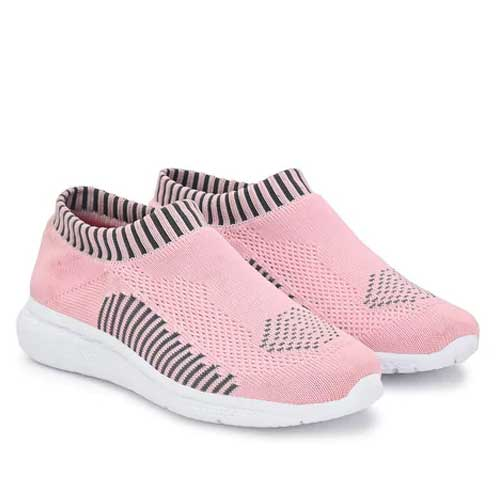 Womens pink casual sneakers
