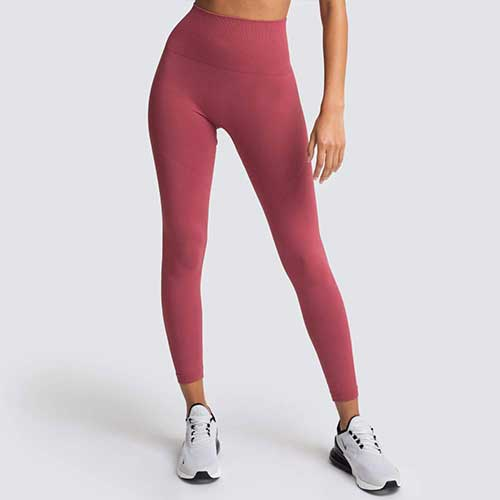 Womens pink seamless legging