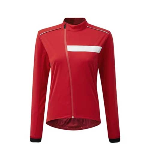 Womens red full sleeved top