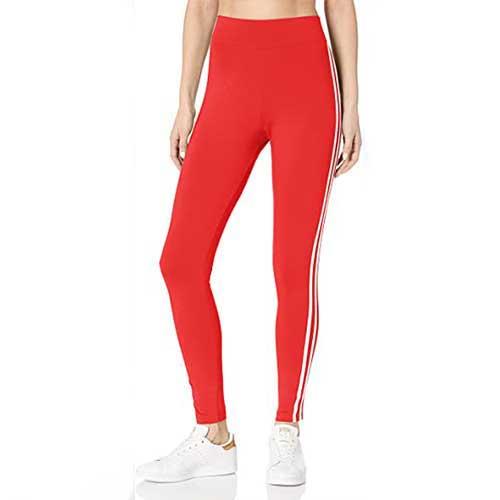 Womens red leggings