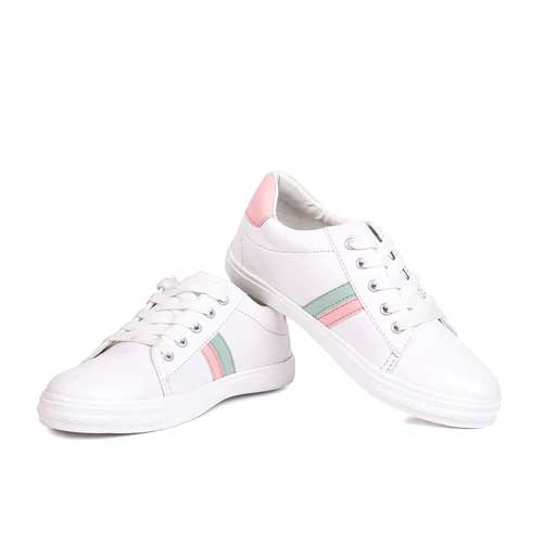 Womens white casual sneakers