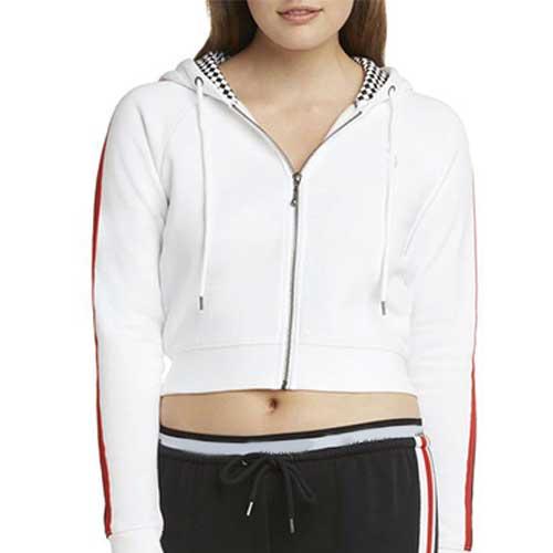 Womens white cropped jacket