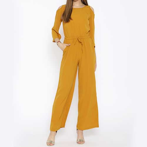 Womens yellow jumpsuit