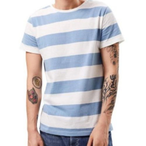 Wholesale Men's Blue & White Striped Shirt Manufacturer