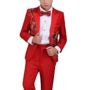 Wholesale Boys Red Suit Set