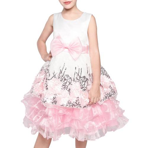 Wholesale Girl's Christmas Themed Bow Dress
