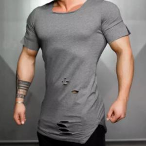 Wholesale Men's Grey Compression T-shirt