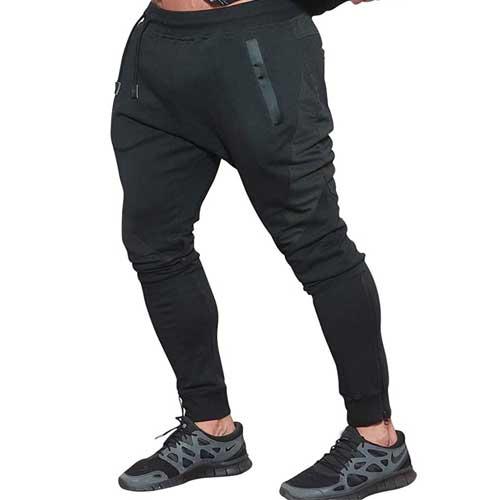 mens black gym joggers