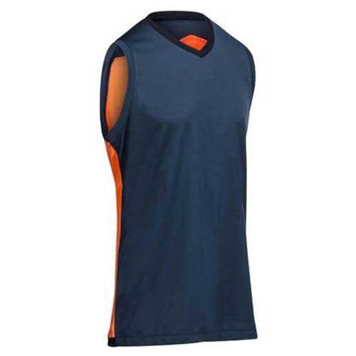 mens blue orange vest