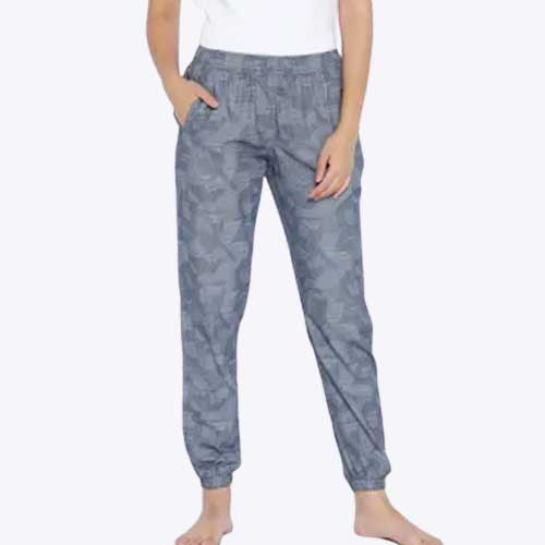 Wholesale Women's Grey Printed Joggers