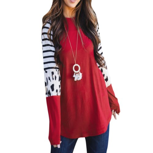 """Wholesale Girl's Red & Black Striped Top"""
