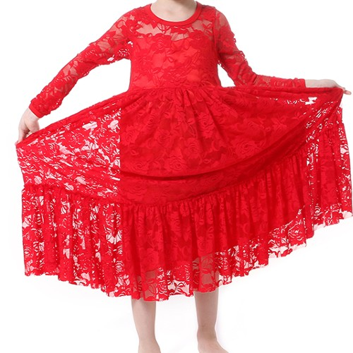 Wholesale Girl's Red Blingy Frock Manufacturer
