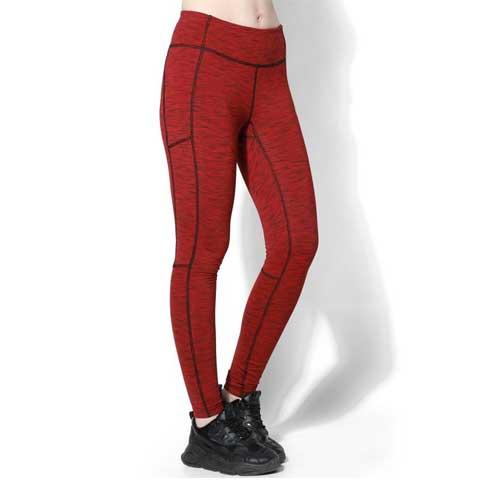 red melange womens legging