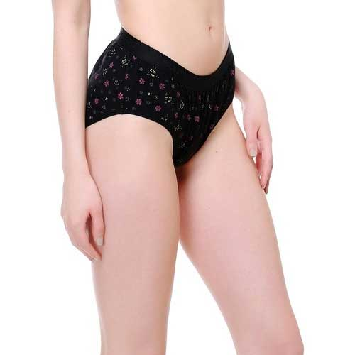 Wholesale Women's Black Floral Underwear